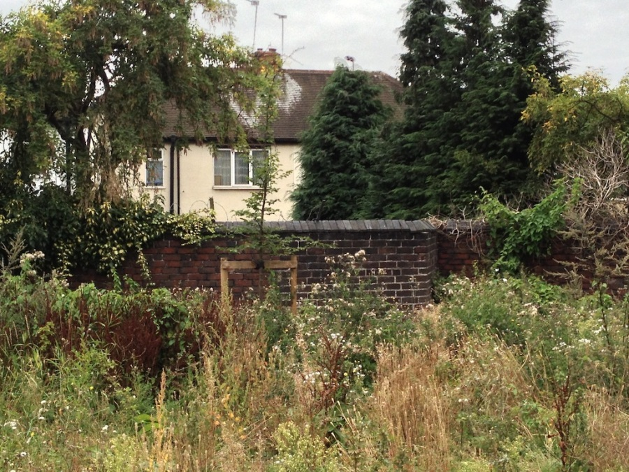 Remains of the canalside wall on Bagnall Street, by Steve Wilcox. Steve has posted a number of photos of the area including the Miner's Arms, opposite the stub of Puddingbag Street, and the remains of the South Staffordshire Line under the new Black Country Route, on his photography blog.